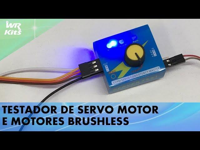 TESTADOR DE SERVOS E MOTORES BRUSHLESS