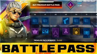 Season 9 FULL BATTLE PASS SHOWCASE! All SKINS, BANNERS, QUIPS And MORE! - Apex Legends Legacy
