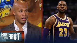 Richard Jefferson talks Lakers' title chances, Warriors adding a big fish | NBA | FIRST THINGS FIRST