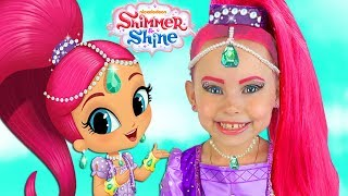 Alice dress up Princess Shimmer and Shine & Play with Surprise Toys