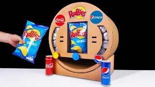 DIY How to Make Ruffles Chips Coca Cola and Pepsi Vending Machine