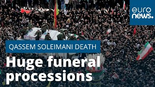 Huge funeral processions for killed general in Iran - Latest updates