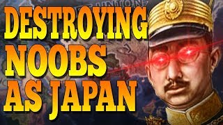WHAT HAPPENS WHEN TOMMY JOINS A NOOB GAME AS JAPAN? - HOI4 Multiplayer
