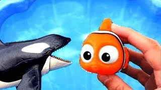 Learn Colors With Sea Wild Animals and Animal Names | Pool Water Colors For Kids | Kids Video P88