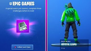 How To Get HIGH STAKES CHALLENGES and CRYSTAL LLAMA BACKBLING in Fortnite!