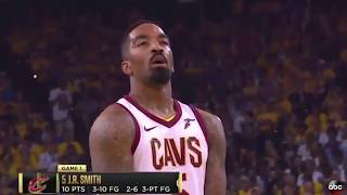 GS Warriors fans gave J.R. Smith a free-throw line 'MVP' chant  (2018) SAVAGE !!!!!!
