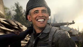 President Barack Obama Plays COD WW2! (Voice Troll)