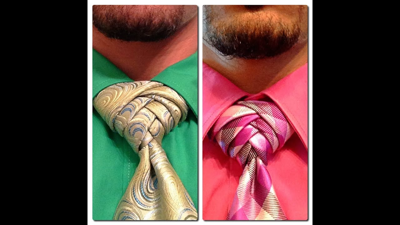 How to tie a tie: The Artichoke Knot - YouTube