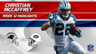 Christian McCaffrey's 97 Yards on 9 Touches vs. NY! | Panthers vs. Jets | Wk 12 Player Highlights