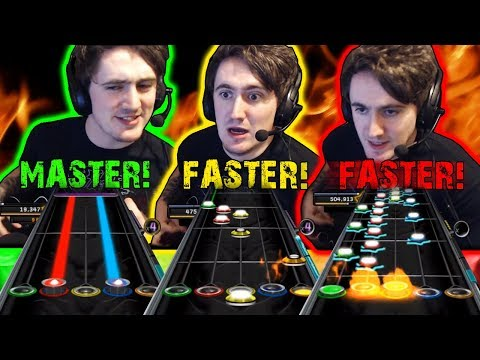 Master Of Puppets... but every time he says 'Master' it gets faster