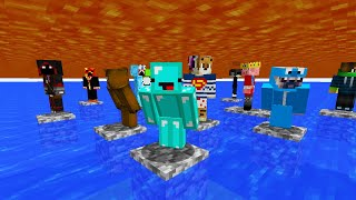 Minecraft, But Lava and Water Rises Every 14 Seconds...