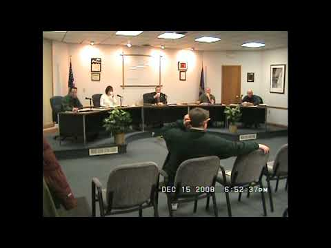 Rouses Point Village Board Meeting  12-15-08