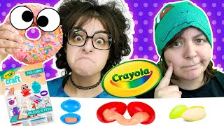Cash or Trash? WEIRD Food Charms Testing 3 Crayola Craft Kits