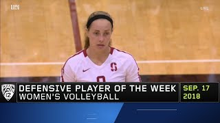 Stanford's Morgan Hentz named Pac-12 women's volleyball Defensive Player of the Week