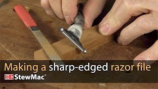 Watch the Trade Secrets Video, Making a sharp-edged razor file for binding channels