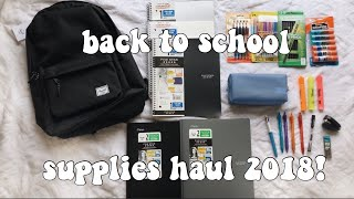 Back to School Supplies Haul 2018 | Desiree Chloe