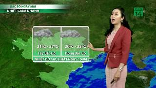 VTC14 | Thời tiết cuối ngày 14/04/2018 | Đêm nay và sáng mai Bắc bộ mưa lạnh