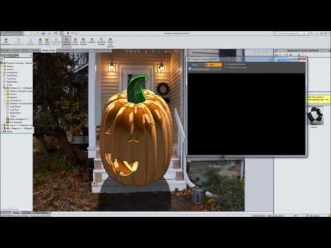 Modeling a Pumpkin in SolidWorks - Part 3 - Rendering