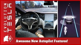 Tesla Autopilot v9 Overview | Awesome New Features!