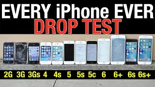 iPhone 6S Plus vs 6S vs 6 Plus vs 6 vs 5S vs 5C vs 5 vs 4S vs 4 vs 3Gs vs 3G vs 2G Drop Test!