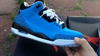 Jordan 3 Dark Powder Blue White Lace Swap Fire Red 3 Lace Swapping