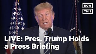Pres. Trump Holds a Press Conference in Bedminster, New Jersey | LIVE | NowThis
