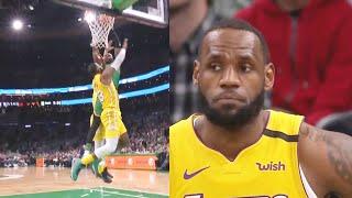 LeBron James Gets Murdered By Jaylen Brown's Crazy Dunk & Celtics Destroy Lakers! Lakers vs Celtics