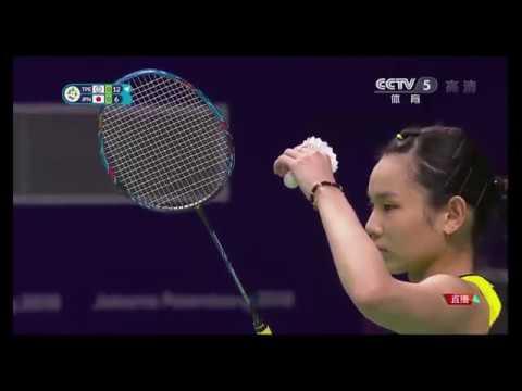 HD 戴資穎vs奧原希望 [央視版 CCTV] 亞運羽球女單八強戰  TAI Tzu Ying vs.OKUHARA Nozomi