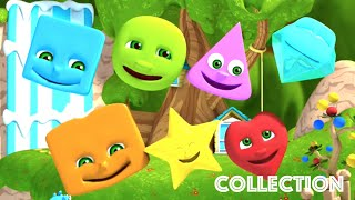 Learn Shapes | Nursery Rhymes Collection For Kids | The Shapes Song | Kindergarten Education