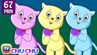 Three Little Kittens and Many More Kitten Cat Songs | Popular Nursery Rhymes Collection | ChuChu TV