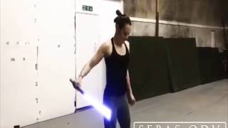 Daisy Ridley Lightsaber Training - Special Effects