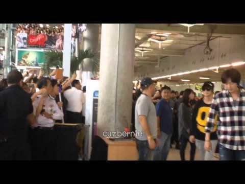 [FANCAM] 121124 SJ SNSD SHINEE F(X) EXO AT SUVARNABHUMI AIRPORT