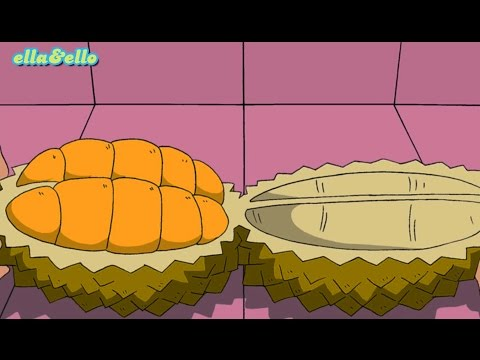 Ella Ello : Kutahu Nama Buah - Durian, Nanas, Salak | Puri Animation Channel