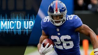 "Saquon Barkley Mic'd Up vs. Redskins ""That's AP bro, you ever watch his highlights?"" 