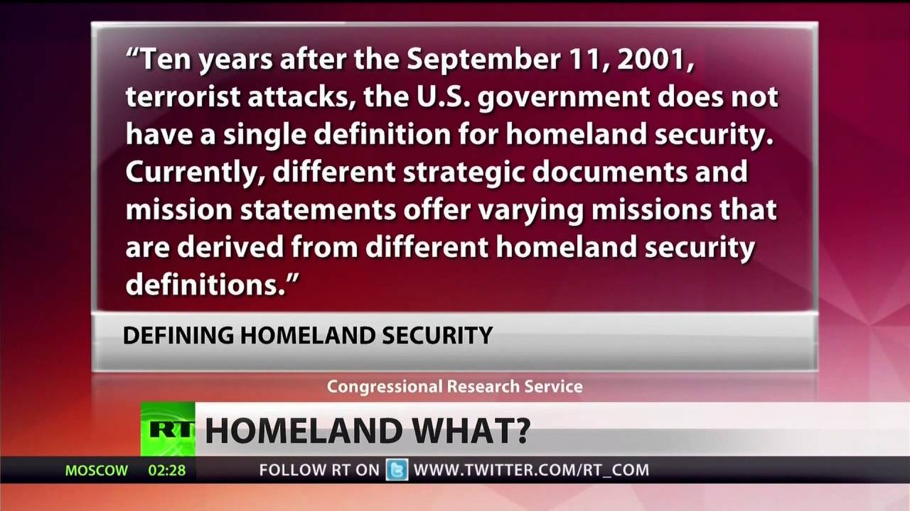 What Does Rt Mean >> What does 'Homeland Security' even mean? - YouTube