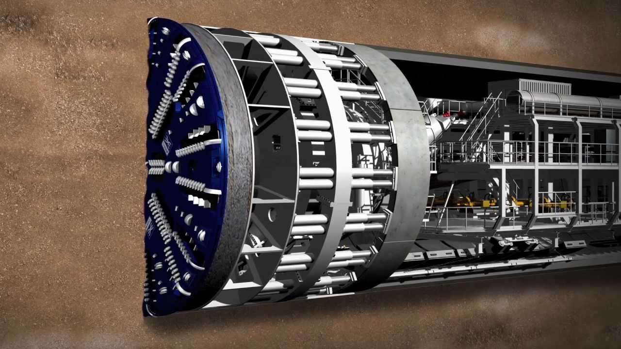 Meet Crossrail's giant tunnelling machines - YouTube