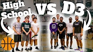 High School Basketball Team VS D3 College TEAM?! (Part 2)