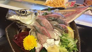 LIVE Fish Sashimi [ Ikizukuri ] | Weird Japanese Food - Eating LIVE Sashimi