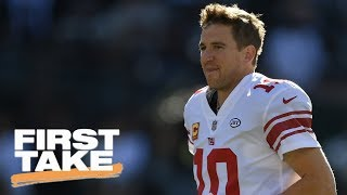 Max's hopes for Giants crushed by Damien Woody and Donovan McNabb | First Take | ESPN