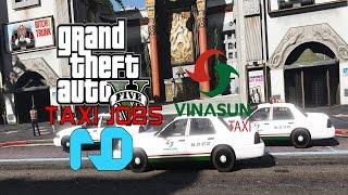 GTA 5 - Ngày đầu nhận việc tài xế xe Taxi VINASUN trong thành phố LS | ND Gaming