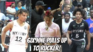 6ix9ine and Kyrie Irving Pull Up To Rucker! Cole Anthony vs Jaquan Carlos - Full Highlights