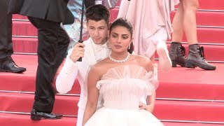 Nick Jonas and Priyanka Chopra on the red carpet for Les Plus Belles Années d'une vie