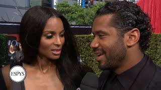 Russell Wilson and Ciara talk Seahawks and more on the red carpet | 2019 ESPYS