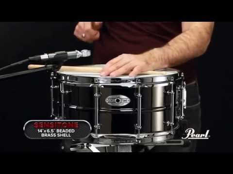 Pearl Drums Pearl Sensitone Elite Brass 14x6.5 Snare Drum