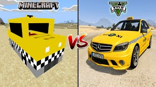MINECRAFT TAXI CAR VS GTA 5 TAXI CAR - WHICH IS BEST?