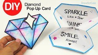 How to Make a Diamond Pop Up Card | DIY Paper Craft