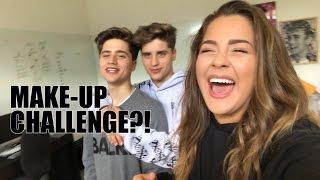 MAKE-UP VOICEOVER CHALLENGE W/ THE MARTINEZ TWINS!!!