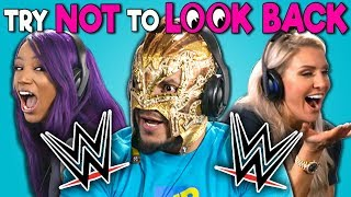 WWE Superstars React To Try Not To Look Back Challenge