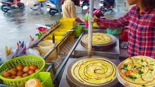 Ngon lạ bánh kép nướng 4 màu  của chị gái trên đường phố Sài Gòn   street food of saigon