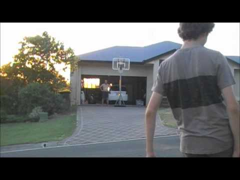 20m Basketball Hoop Football shot